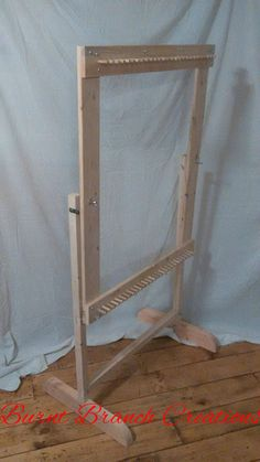 Solid Hardwood Rag Rug Twining Loom U0026 Stand Set