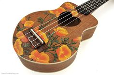 Custom Hand Painted Glassware, Ukuleles & Gifts by LemonTreeWorkshop Painted Ukulele, Orange California, Painting Services, Poppies, Hand Painted, This Or That Questions, Blessings, Favorite Things, Glass