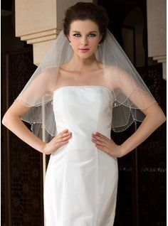 I need a simple veil... ($20 @ jjshouse.com)