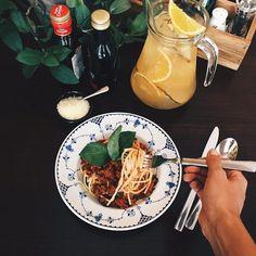 "Spaghetti ""Bolognese"". #beatgroup #bisquecafe #healthycafe #baku #azerbaijan #summer2015 #tasty #food #europeancuisine #delicious #bolognese #pasta #spaghetti #italiancuisine"