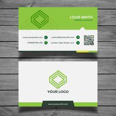 Cartão verde corporativa Vetor grátis