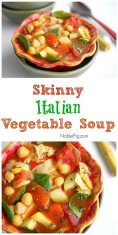 How to Make Skinny Italian Vegetable Soup