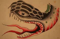 Tattoo flash art by Amund Dietzel (currently on view at Milwaukee Art Museum)