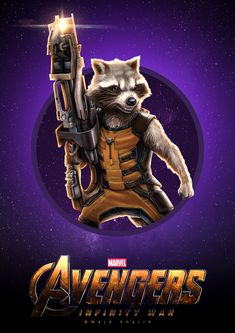 "Avengers ""Infinity War"" Marvel Art, Marvel Heroes, Marvel Avengers, Marvel Comics, Marvel Movie Posters, Marvel And Dc Characters, Mundo Marvel, Rocket Raccoon, Marvel Funny"