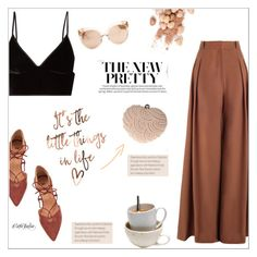 """""""It's the little things in life"""" by cafejulia ❤ liked on Polyvore featuring Glam Cham, T By Alexander Wang, Zimmermann, Too Faced Cosmetics and Linda Farrow"""