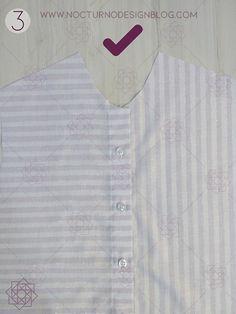 Costura fácil: Camisa a rayas + molde gratis – Nocturno Design Blog Design Blog, Costura Diy, Shirt Dress, Mens Tops, Sewing, Shirts, Fashion, Flower, Shirt Sewing Patterns
