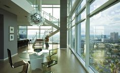 A penthouse model home at The Residences at W Atlanta.