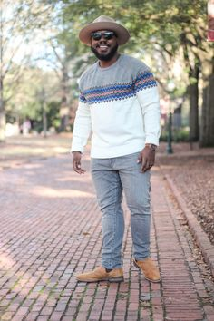 Gap Sweater and Grey Jeans