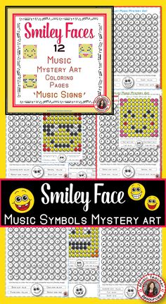 Music Lessons  |  Music Theory Signs  |This set contains 12 SMILEY FACE Mystery Music Coloring Worksheets.   ♫ Coloring sheets are such a favorite with young musicians ♫ ♫  An excellent for early finishers and an addition to your music sub tub.    #musiceducation   #musiced