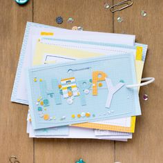 mojosanti ♥ Sandra Dietrich: Blog-Hop der Happy Scrappy Friends im Juli 2015 I Mini album & Mood Board