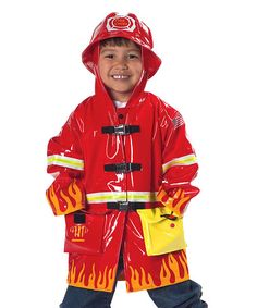 Take a look at this Red Firefighter Raincoat - Infant, Toddler & Boys by Kidorable on #zulily today!