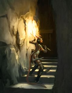 618x800 154 Tiefling Rogue 2d fantasy rogue dungeon tiefling dagger crossbow dnd 4e picture image digital art.jpg