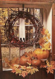 Fall - Window's View (you could tweak this a bit and make a cute entry way)