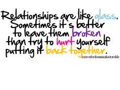 broken relationships...