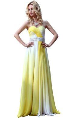 Kingmalls Womans Gradient Yellow Strapless Quinceanera « Clothing Impulse