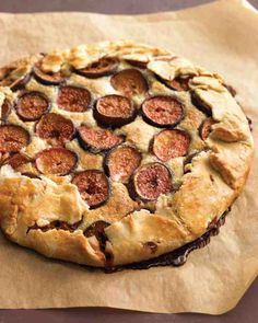 Fresh Fig and Almond Crostata - A tender almond filling and a buttery crust, both quickly blended in the food processor, complement delectable figs. The crostata is especially good warm.