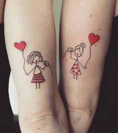 Meaningful Mother Daughter Tattoos to Celebrate Your Special Bond - Mea. - Meaningful Mother Daughter Tattoos to Celebrate Your Special Bond – Meaningful Mother Da - Bff Tattoos, Mädchen Tattoo, Bestie Tattoo, Best Friend Tattoos, Great Tattoos, Couple Tattoos, Tattoo Fonts, Future Tattoos, Unique Tattoos