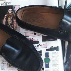 Loafers are so in! The Tod's in my shop are the perfect versatile pair of flats for everyday. The Tod's in this magazine are over  $800 and my vintage ones are $125. Take a look.