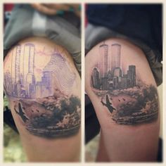 9/11 & Pearl Harbor tribute tattoo...by artist Kani Xiong. Simply amazing..beautifully done!