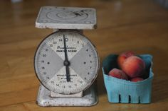 White Chic Kitchen Scale Vintage American Family by Eagleseyefinds