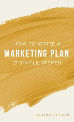 How to Write a Marketing Plan in 7 Steps (For solopreneurs and entrepreneurs with small teams) — Personal Branding Coach Social Media Marketing Business, Marketing Budget, Content Marketing Strategy, Email Marketing, Online Business, Business Tips, Small Business Consulting, Creating A Business Plan, Marketing Plan Template