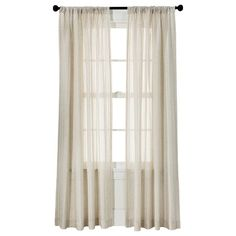 "Threshold™ Leno Weave Sheer Curtain Panel - Ivory (54x95"") : Target"