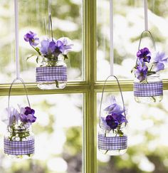 20 things to do with baby food glass jars: Hanging Jars - @lilsugar via @babycenter