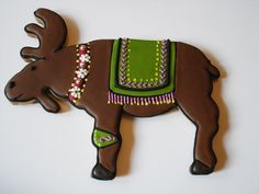 Chocolate Covered Moose Cookies Decorated for the Season