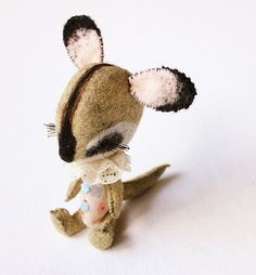 Custom Made Felt Animal or Pet Portrait // OOAK by ThistleandFox, $58.00