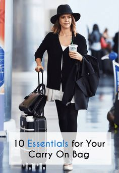 A carry on is just as important, if not MORE important, than your main luggage. Here are 10 essentials for your carry on bag. Carry On Bag Essentials, Airplane Essentials, Carry On Packing, Packing Tips, Travel Packing, Travel Luggage, Travel Outfits, Travel Essentials, Luggage Bags