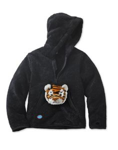 HoodiePet Childrens Kids fleece hoodie sweatshirt with fun interchangeable plush stuffed animal Tiger toy puppetBlack 78 *** You can get additional details at the image link.