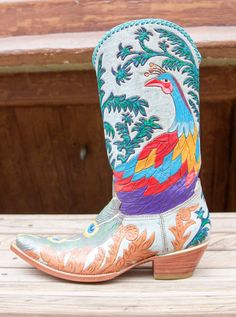 Colorful Cock Of The Walk Cowboy Boots