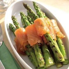 Gemarineerde groene asperges met zalm recept - Groente - Eten Gerechten - Recepten Vandaag