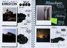 My travel journal - Karlstejn in the night' page 34c, Journal Ideas, Beautiful Places, Night, Travel, Inspiration, Biblical Inspiration, Viajes, Traveling