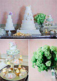 cake and dessert table at elegant wedding #weddingcake #weddingdessert #weddingchicks http://www.weddingchicks.com/2014/02/12/let-them-eat-cake-wedding-ideas/