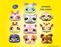 *NOT COMPLETED MASKS*  Easy and fun to make! Print, glue page to a piece of craft poster board (this giant sheets found at dollar shores),
