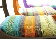 Angie Parker's exquisite, exuberant and vibrant contemporary woven textiles will put a smile on your face and have you dancing for joy too - guaranteed.