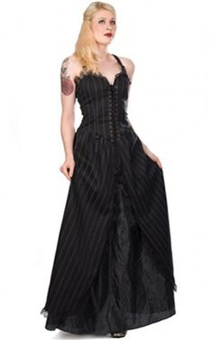 Aderlass Long Steampunk Gown Hey, I have that stress. Good quality. Too small now.