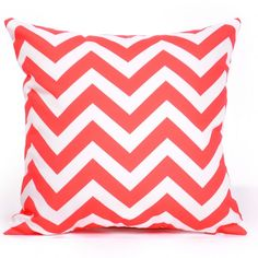 Red Chevron Cushion Cover- i could add applique iconic Kiwiana over the top?