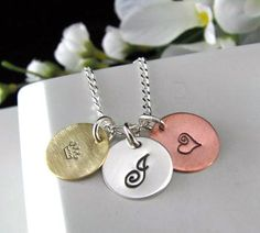 Sterling Silver & Copper Brass Charm Pendant by auctionprincess, $42.00