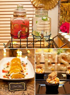 Holiday Fiesta Food & Drinks - Watermelon Punch, Mini Tacos, and Salted Caramel Cupcakes!