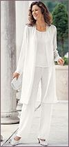 white formal pantsuit-L's