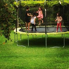 Pin for Later: Beyoncé, Ivanka, Jessica, and More Shared the Sweetest Snaps of Their Tots This Week!  Poet and Jagger Moon Frye had a jumping party on their trampoline. Source: Instagram user moonfrye