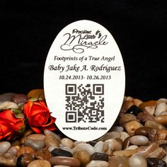 A personal favorite from my Etsy shop https://www.etsy.com/listing/191045400/qr-code-memorial-plaques-to-remember