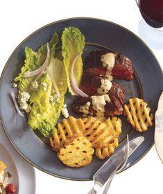 Steak With Cognac Sauce and Salad Recipe (2011)