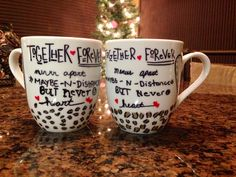 DIY Best Friend Mug. Made with my best friend @andrea castro