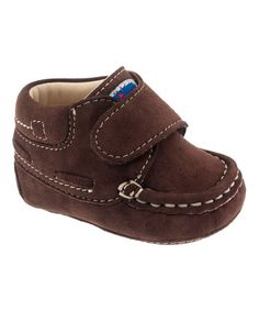 This Brown Nico Nubuck Shoe by Chicco is perfect! #zulilyfinds