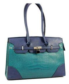 Love this colourful Blue Bag