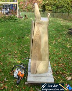 My first chainsaw carving a piece of furniture.  A wardrobe carved from a single piece of walnut wood by Bill: https://www.facebook.com/Bill.Sculptures.tronconneuse.Quebec