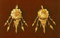Ancient Greek earings found in Kozani Macedonia Greece